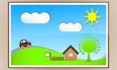 Countryside conservation. — Stock Vector