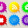 Abstract icons for Internet — Stock Vector