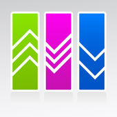 Promotional coupons arrows. — Stock Vector