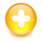 Esfera añadir icono. — Vector de stock
