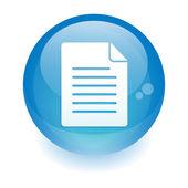 Sphere document icon. — Stock Vector