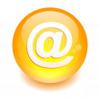 Sphere mail button. — Stock Vector