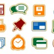 Business Office icons. — Stock Vector