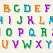 Stylish and colorful Childrens Creative Alphabet. — Vettoriali Stock
