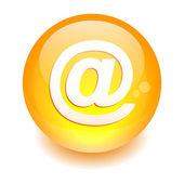 Küre posta düğmesi. — Stok Vektör