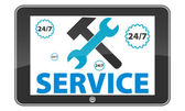 Tablet-pc-service. — Stockvektor