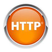 Bouton internet http — Stock Vector