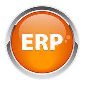 Bouton internet ERP — Stock Vector