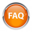 Bouton internet question FAQ icon — Stock Vector