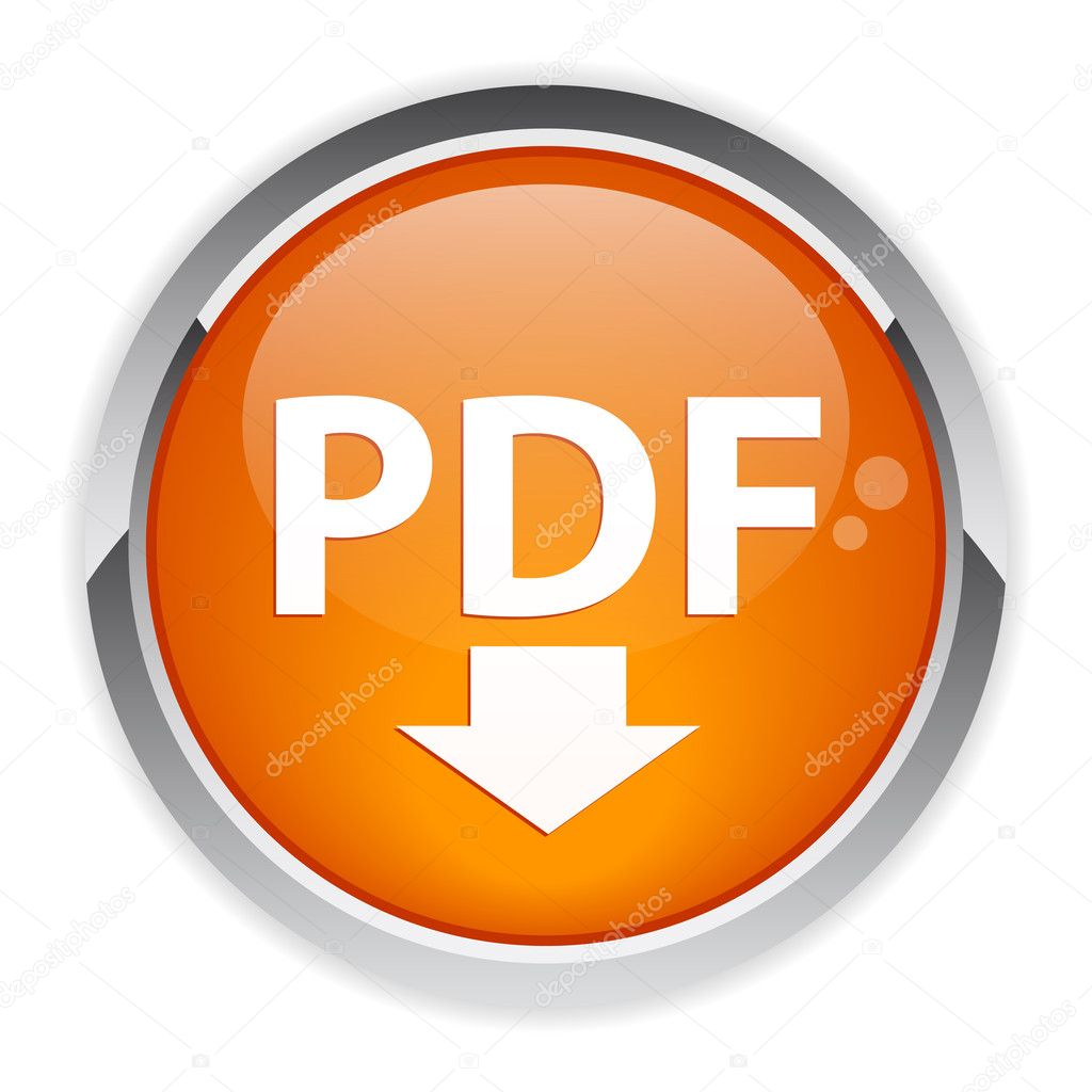 Bouton internet PDF downloading icon — Stock Vector #11611182
