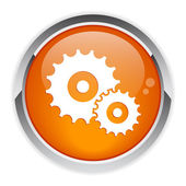 Icono de configuración botón — Vector de stock