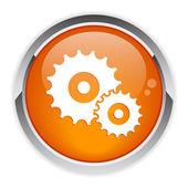 Ikona nastavení tlačítka — Stock vektor
