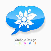 Graphic design flower logo cloud — Stock Vector