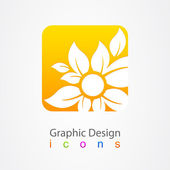 Graphic design icon lotus — Stock Vector