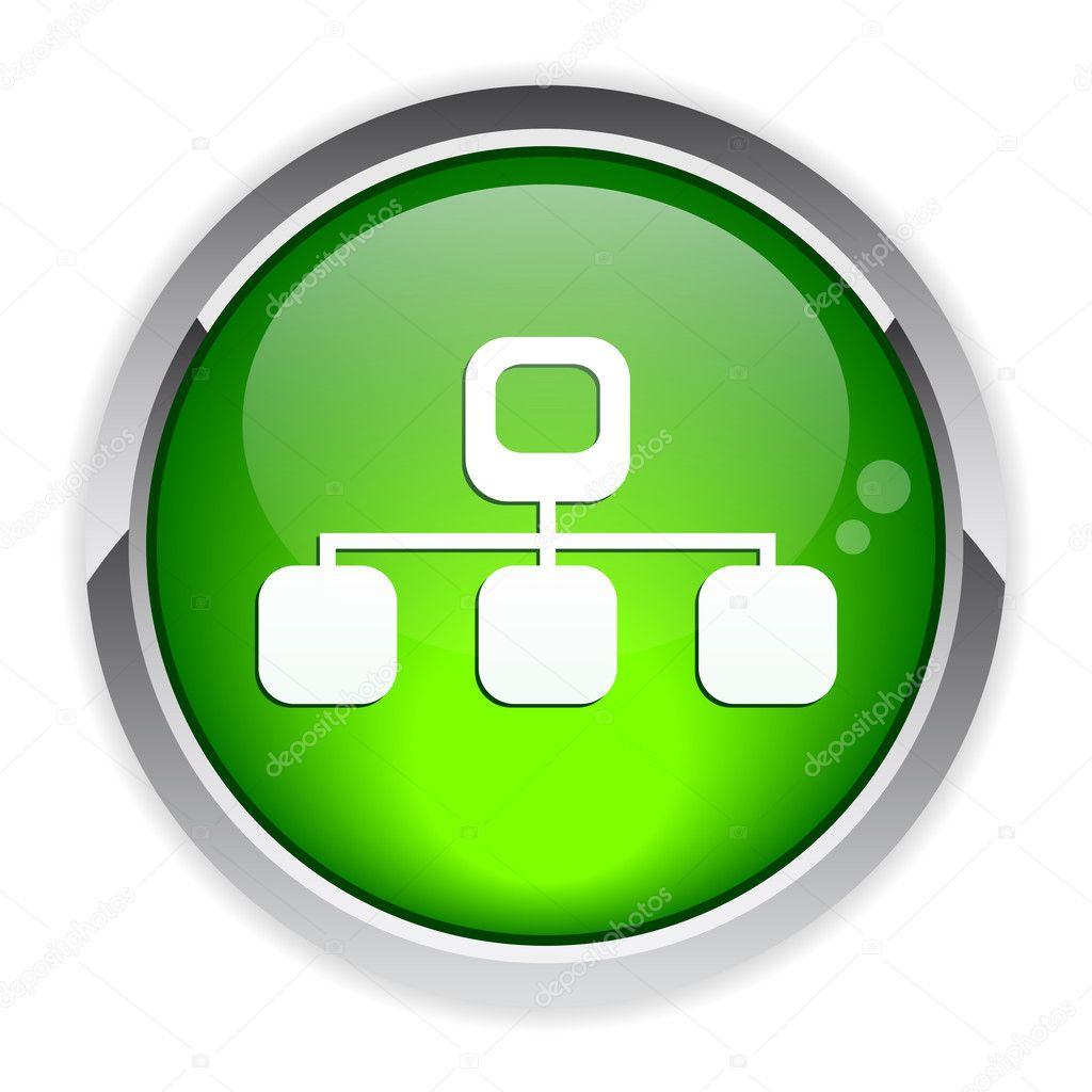 Button web Network Information icon — Stock Vector © maxsim ...