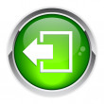 Output disconnect button Internet icon — Stock Vector