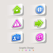 Graphic design set of business icons — Stock Vector