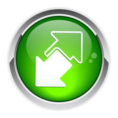 Internet connection disconnect button arrow icon — Stock Vector