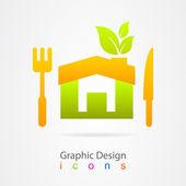 Graphic design kitchen web icon — Stock Vector