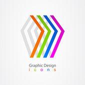 Graphic design business logo tape. — Stock Vector