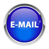 Bouton web e-posta işareti. — Stok Vektör