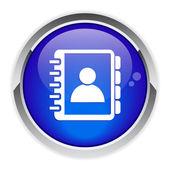 Button icon daily agenda — Stock Vector