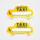 Taxi service sticker — Stock Vector