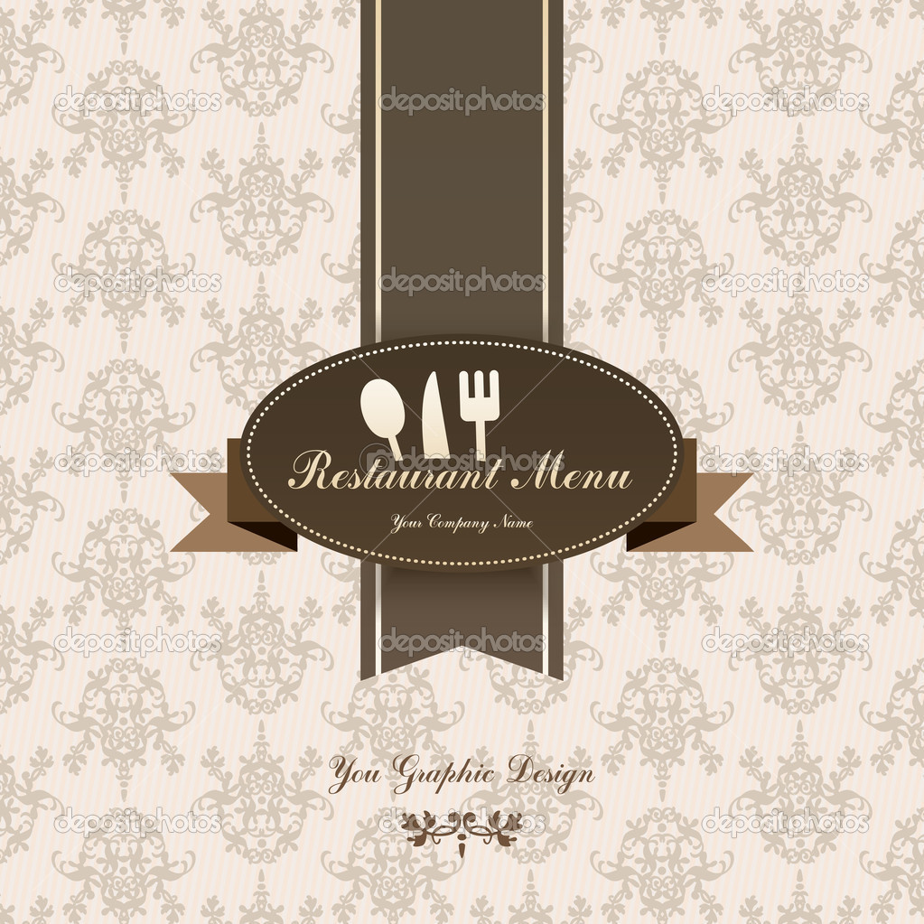 Restaurant menu graphic design — stock vector maxsim