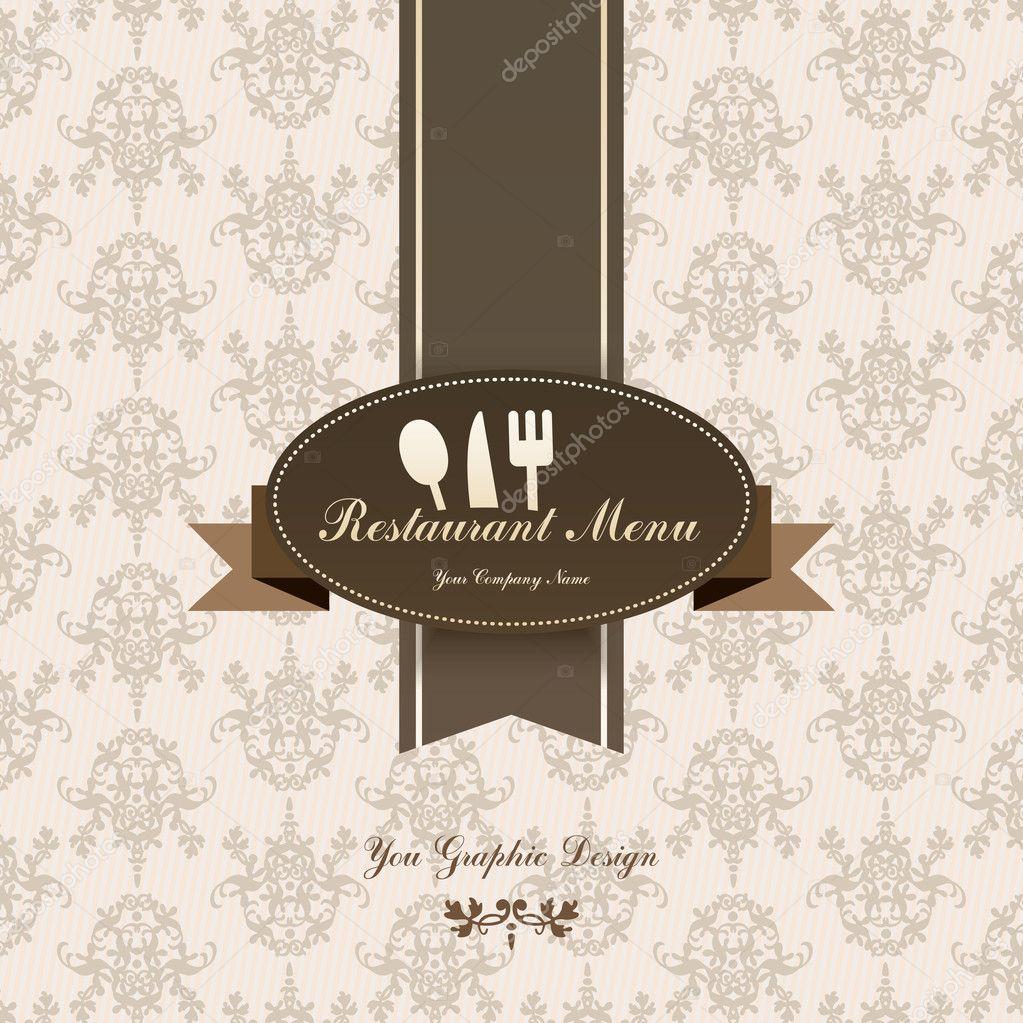Restaurant menu graphic design — stock vector maxsim