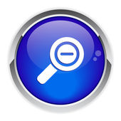 Button loupe magnifying glass icon. — Stock vektor
