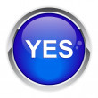 Stock Vector: Button yes.
