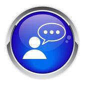 Conversation button speeking bubble. — Stock Vector