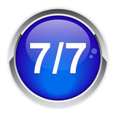 Bouton internet 7/7 icon. — Stock Vector