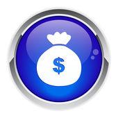 Button stock exchange icon. — Stock Vector