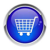 Button internet purchasing cart — Stock Vector