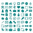 Stock Vector: Collection different pictograms.