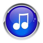 Button music sign. — Stock Vector