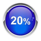 Button internet 20%. — Stock Vector