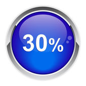 Button internet 30%. — Stock vektor