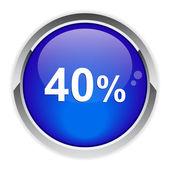 Bouton internet 40%. — Vector de stock