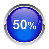 Button internet 50%. — Vecteur
