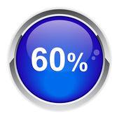 Button internet 60%. — Wektor stockowy