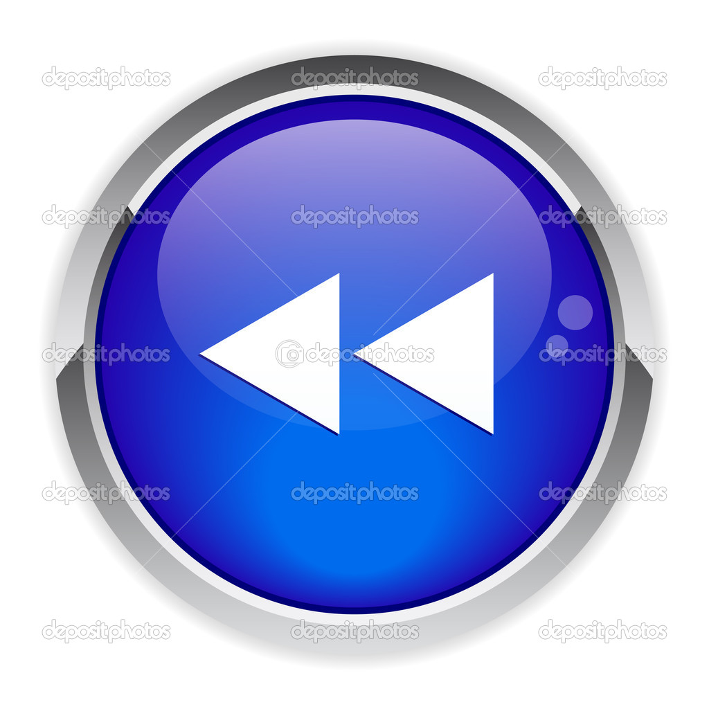 Button previous Internet. — Stock Vector #12037910