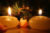 New year candles — Stock Photo