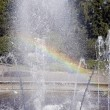 Rainbow in fountain — Stock Photo