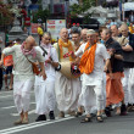 Hare Krishna demonstration — Stock Photo