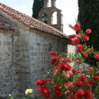 Church and flowers - Stock Photo