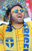 İsveç futbol fan — Stok fotoğraf