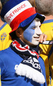 Franch football fan — Stock Photo