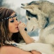 Royalty-Free Stock Photo: Beauty and the Husky